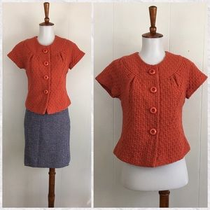 Beth Bowley Button Up Short Sleeve Jacket